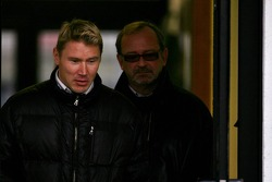 Mika Hakkinen and his manager Didier Coton