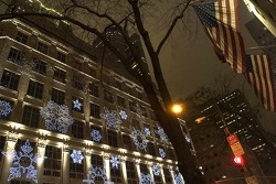 Christmas ambiance in New York City