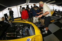 VIP guests visit Corvette Racing paddock area