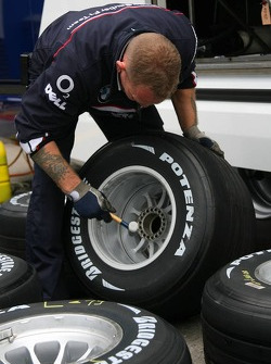 BMW Sauber F1 team and Bridgestone tyre feature