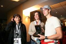 Michèle Mouton, Katarina Witt and Sébastien Bourdais