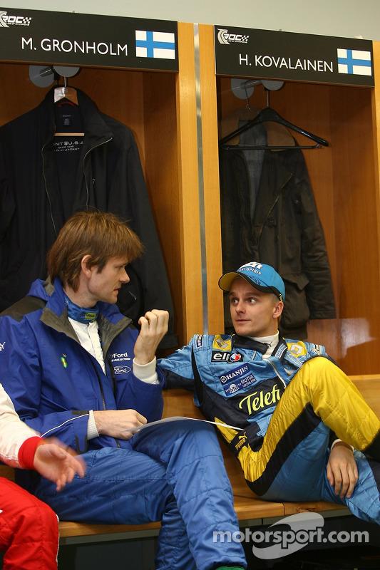 Marcus Gronholm and Heikki Kovalainen