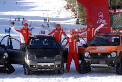 Marc Gene, Luca Badoer, Kimi Raikkonen and Felipe Massa