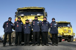 Loprais Tatra Team: Ales Loprais and Petr Gilar with Loprais Tatra team members