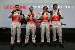 Gary Paffett, Fernando Alonso, Lewis Hamilton und Pedro de la Rosa