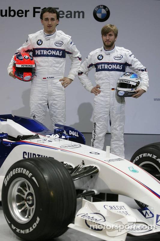 Robert Kubica und Nick Heidfeld, BMW Sauber
