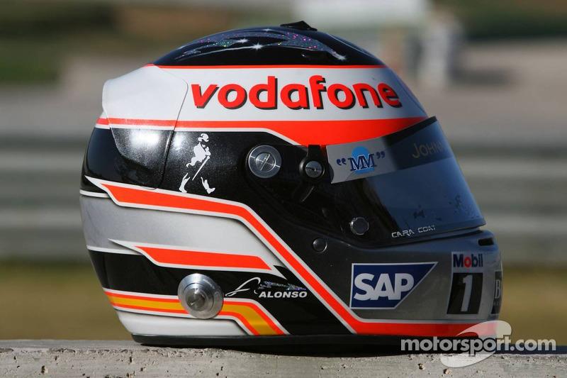 Casco de Fernando Alonso en 2007