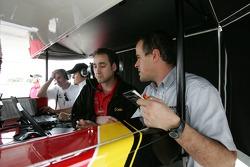 Andretti Green Racing team members at work