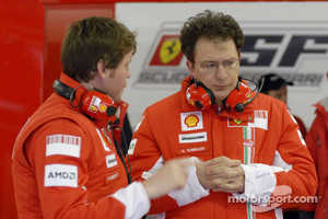 Rob Smedly, race engineer to Felipe Massa and Nicholas Tombazis, Ferrari chief designer