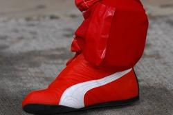 Race shoe and protector of Kimi Raikkonen