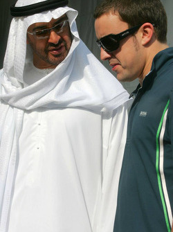 His Highness Sheikh Mohammed Bin Zayed Al Nahayan and Fernando Alonso