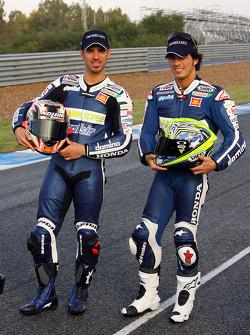 Team Gresini: Toni Elias and Marco Melandri