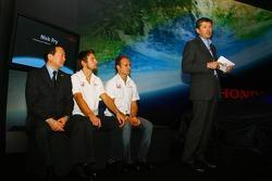 Yashurio Wada, Jenson Button, Rubens Barrichello und Nick Fry