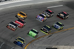Jeff Green leads a group of cars