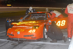 Pitstop for #48 WTF Engineering Corvette: Hans Hauser, Robert Dubler, Ed Magner, Michael DeFontes