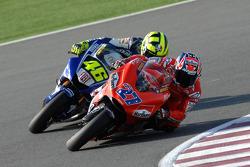 Casey Stoner und Valentino Rossi