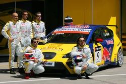 Seat Sport Drivers Presentation, Gabriele Tarquini, SEAT Sport, SEAT Leon, Michel Jourdain, SEAT Sport, SEAT Leon, Tiago Monteiro, SEAT Sport, SEAT Leon, Jordi Gene, SEAT Sport, SEAT Leon and Yvan Muller, SEAT Sport, Seat Leon