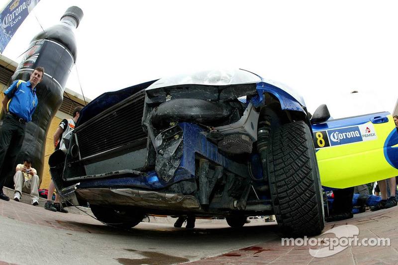 Subaru de Chris Atkinson endommagée