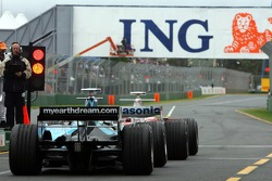 Ralf Schumacher, Toyota Racing and Jenson Button, Honda Racing F1 Team
