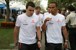 Fernando Alonso and Lewis Hamilton, McLaren Mercedes