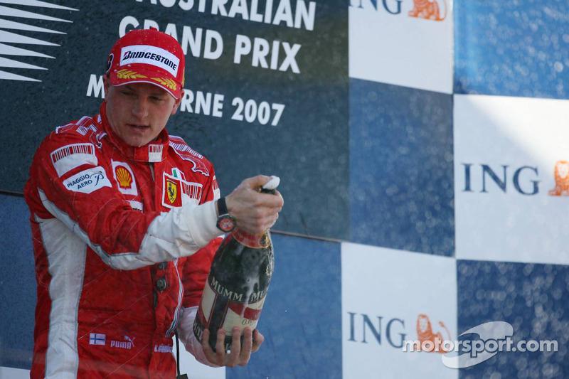Kimi Raikkonen (Ferrari), ganador GP Australia 2007