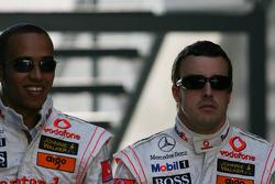 Lewis Hamilton, McLaren Mercedes and Fernando Alonso, McLaren Mercedes
