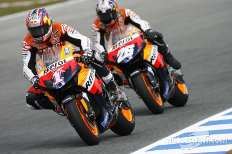 Nicky Hayden and Dani Pedrosa