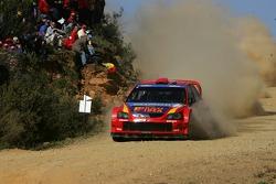 Toni Gardemeister and Jakke Hockanen, MMSP LTD, Mitsubishi Lancer WRC05