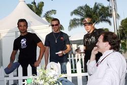 Vitantonio Liuzzi, Scott Speed, his brother Alex and sporting director Christian Horner