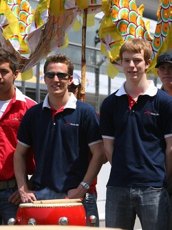 Robbie Kerr, Driver of A1Team Great Britain and Oliver Turvey, Driver of A1Team Great Britain