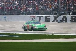 J.J. Yeley drives backwards down the front straight