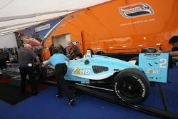 The Newman/Haas/Lanigan Racing car of Graham Rahal at tech inspection