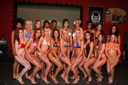 Miss Grand Prix of Houston bikini contest: the contestants pose