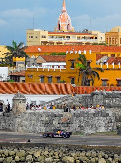 Filipe Albuquerque, Red Bull Racing Showcar in Columbia