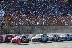 Restart: Jeff Gordon leads Jamie McMurray