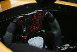 Steering wheel of Matt Lee