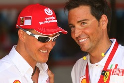 Michael Schumacher, Scuderia Ferrari, Advisor and David Meca, Long distance swimmer