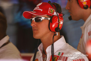 Schumacher in his role of Ferrari advisor in 2007