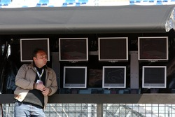 Colin Kolles, Team Owner TME watching his team from the commandstand on the pitwall