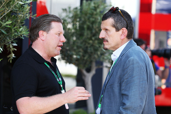 Zak Brown, Just Marketing International, und Günther Steiner, Haas F1 Team