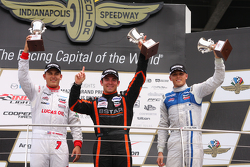 Podium: Race winner Sean Rayhall, 8 Star Motorsports, second place Max Chilton, Carlin and third place R.C. Enerson, Schmidt Peterson Motorsports