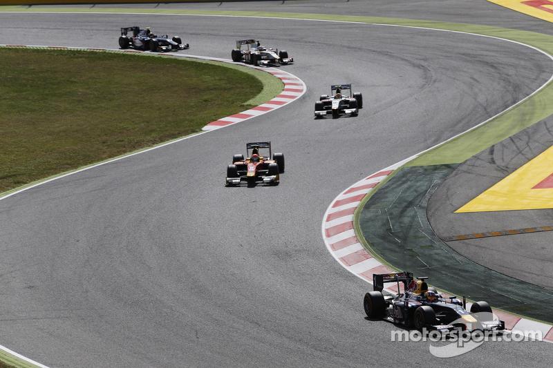 Pierre Gasly, DAMS, und Alexander Rossi, Racing Engineering