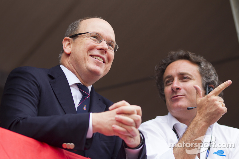 Prince Albert II and Alejandro Agag, CEO Formula E