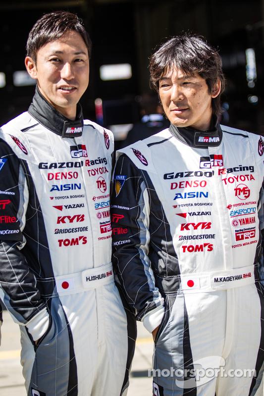 Gazoo Racing photoshoot: Hiroaki Ishiura and Masahiko Kageyama