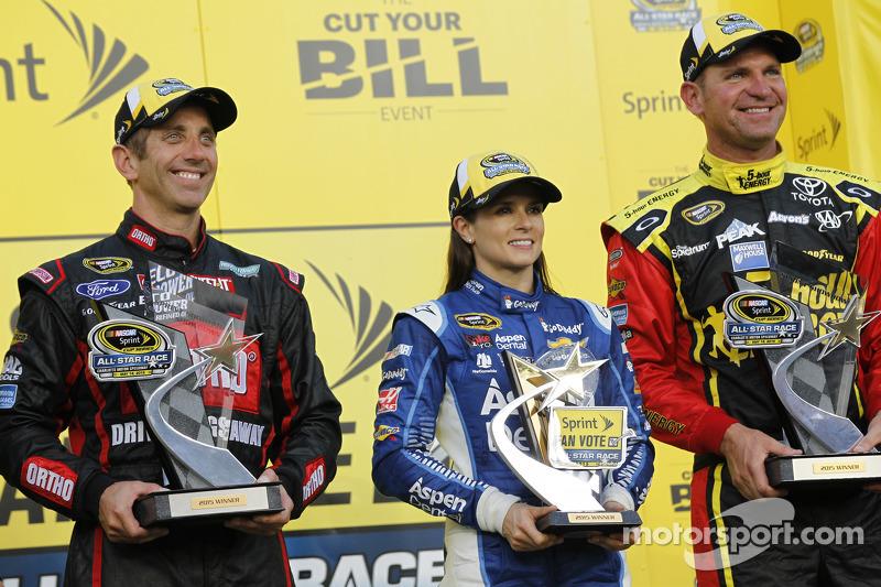 Teil 1: 1. Greg Biffle, Roush Fenway Racing, Ford;Fan-Vote: 1. Danica Patrick, Stewart-Haas Racing,