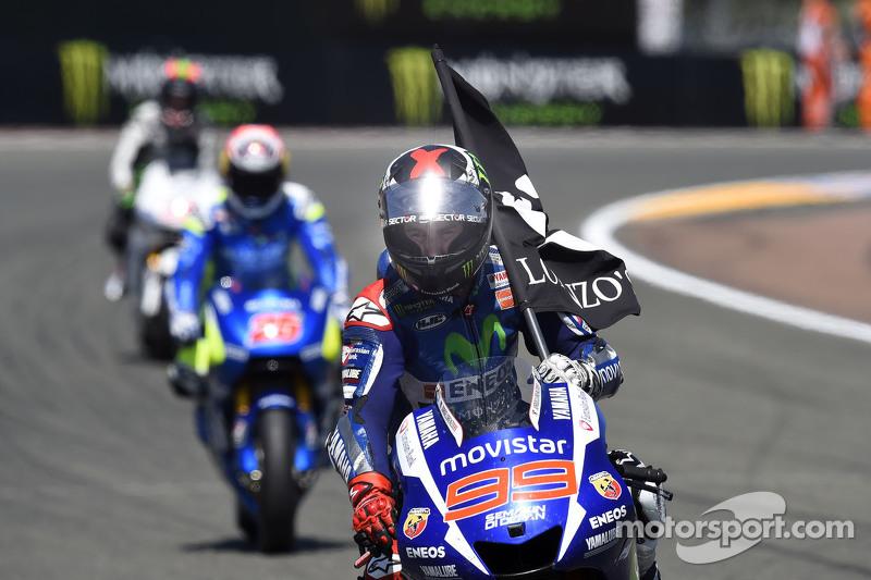 Il vincitore Jorge Lorenzo, Yamaha Factory Racing