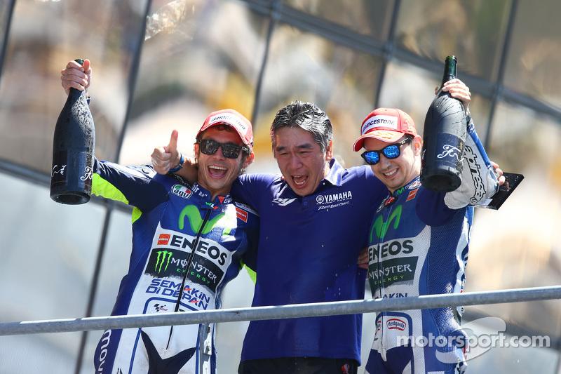 2. Valentino Rossi und Jorge Lorenzo, Yamaha Factory Racing