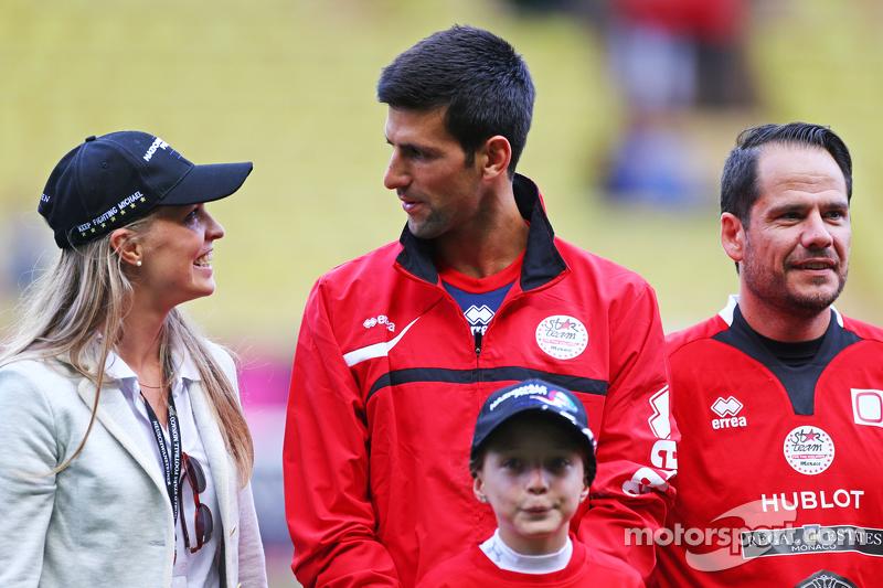 Novak Djokovic Tennis Player di charity football match