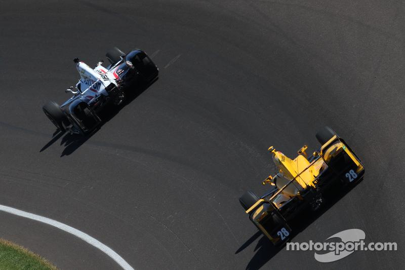 Will Power, Team Penske Chevrolet, dan Ryan Hunter-Reay, Andretti Autosport Honda
