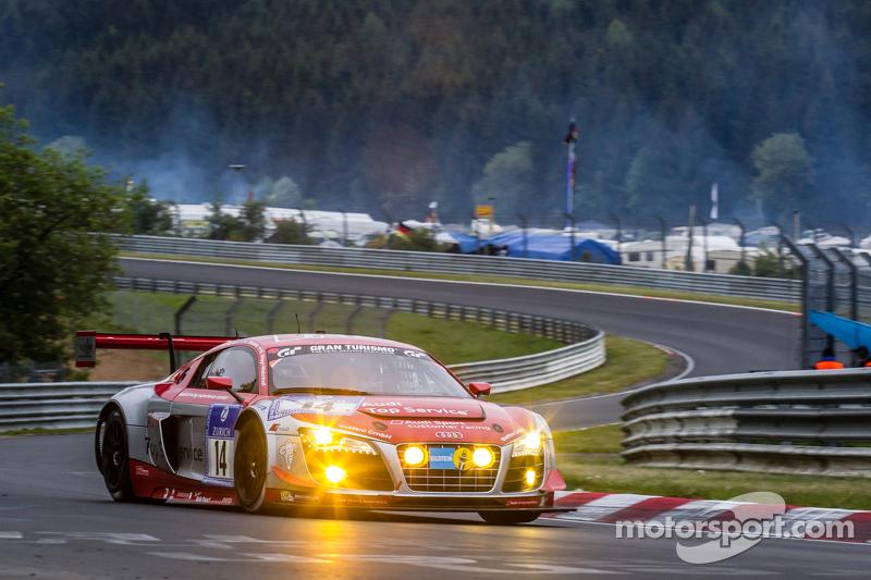 #14 Audi Race Experience, Audi R8 LMS ultra: Niki Mayr-Melnhof, Rod Salmon, Micke Ohlsson, Ronnie Sa